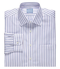 Stays Cool Wrinkle-Free Spread Collar Patterned Dress Shirt