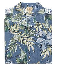 VIP Silk Floral Jacquard Print Short Sleeve Sportshirt