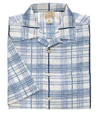 Silk Plaid Jacquard Print S/S Sportshirt