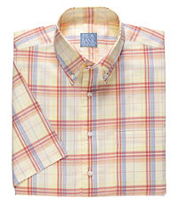 Stays Cool Madras Plaid Short Sleeve Sportshirt