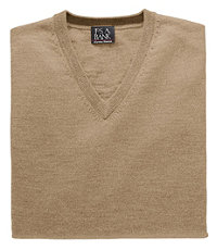 Signature Merino Wool V-Neck Sweater