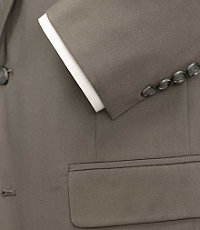 Natural Stetch 2-Button Poplin Suit with Pleated Trousers