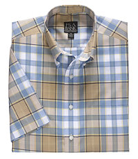 Traveler S/S Buttondown Patterned Sportshirt Big and Tall