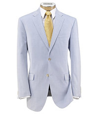 Tropical Blend 2 Button Tailored Fit Suit with Plain Front Trousers Extended