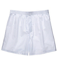 Large Grid Patterned Boxers