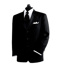 Black 3-Button Tuxedo Jacket