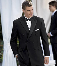 Black Double-Breasted Tuxedo Jacket