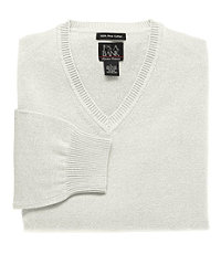 Signature Cotton V-Neck Sweater