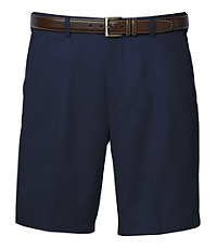 Traveler Cotton Shorts Plain-Front.