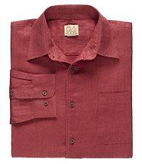 VIP Long Sleeve Linen Point Collar Sportshirt