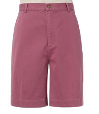 Cotton Washed Twill Plain Front Men's Shorts