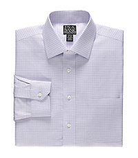 Signature Spread Collar Tailored Fit Check Dress Shirt