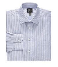 Traveler Tailored Fit Spread Collar Stripe Dress Shirt