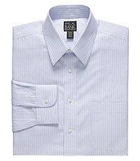 Traveler Tailored Fit Point Collar Stripe Dress Shirt.