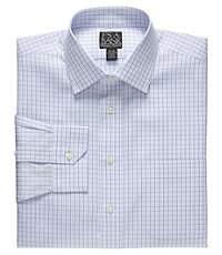 Signature Wrinkle-Free Spread Collar Check Dress Shirt.