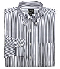 Oxford Buttondown Collar Striped Dress Shirt