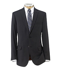 Joseph Slim Fit 2-Button Suits with Plain Front Trousers- Charcoal, Rust Stripe
