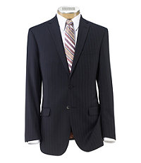 Joseph Slim Fit 2-Button Suits with Plain Front Trousers- Navy Twill Blue Double
