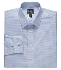 Traveler Point Collar Slim Fit Patterned Dress Shirt