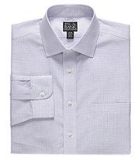 Traveler Point Collar Patterned Dress Shirt