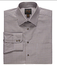 Joseph Spread Collar Cotton Gingham Dress Shirt