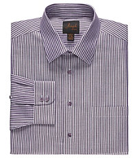 Joseph Spread Collar Cotton Wide Stripe Dress Shirt