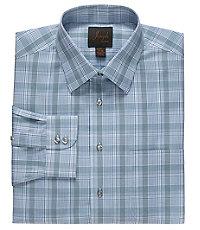 Joseph Spread Collar Cotton Plaid Dress Shirt