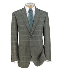 Signature 2-Button Patterned Sportcoat Extended Sizes
