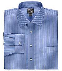 Traveler Spread Collar Stripe Dress Shirt