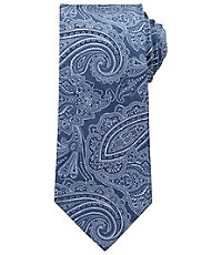 Signature Paisley on Herringbone Ground Tie