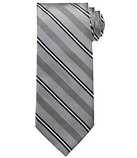 Signature Satin Thin Stripe Tie