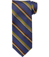 Signature Melange with Satin Stripe Tie