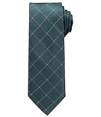 Joseph Windowpane Tie $79.50 AT vintagedancer.com