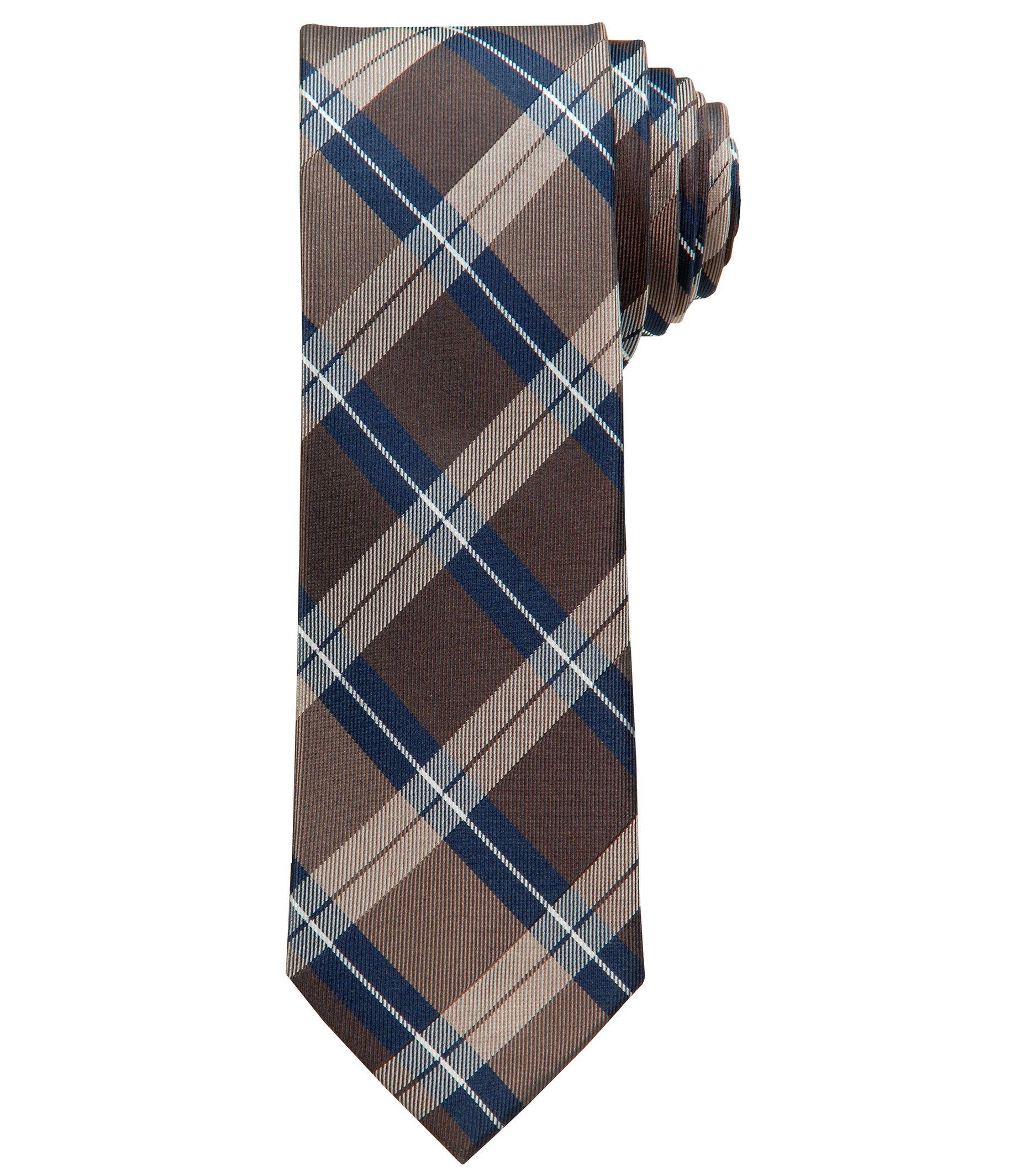 Joseph Slim Plaid Tie
