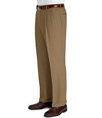Executive Wool Gabardine Pleated Front Big/Tall Trouser