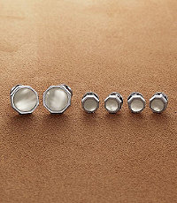 Mother-of-Pearl Octagon Stud Set