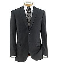 Joseph Slim Fit 2 Button Plain Front Wool Suit- Mid Grey Narrow Stripe