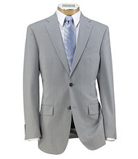 Traveler Slim Fit 2-Button Suits with Plain Front Trousers- Light Grey, Blue Mini