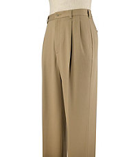 Traveler Brushed Twill Pleated Front Pant Extended Sizes
