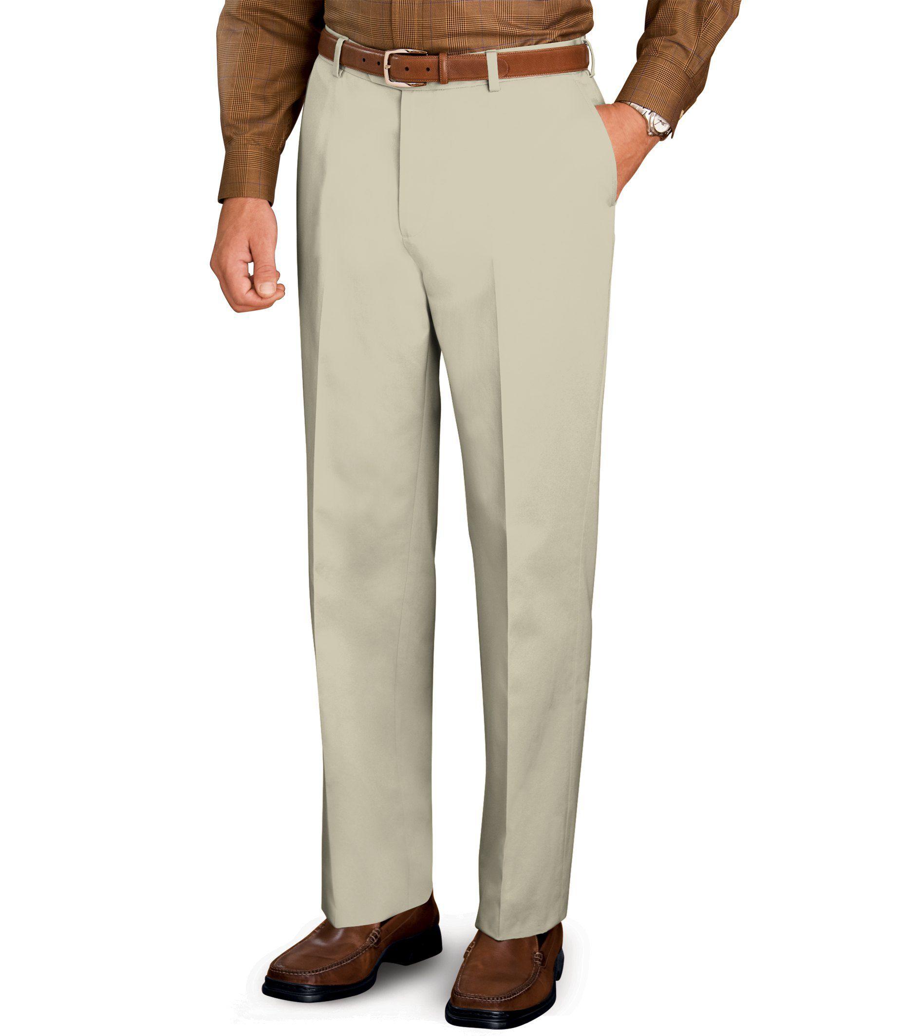 Traveler Slim Fit Twill Plain Front Pant