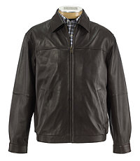 Executive Lambskin Bomber Jacket Big and Tall