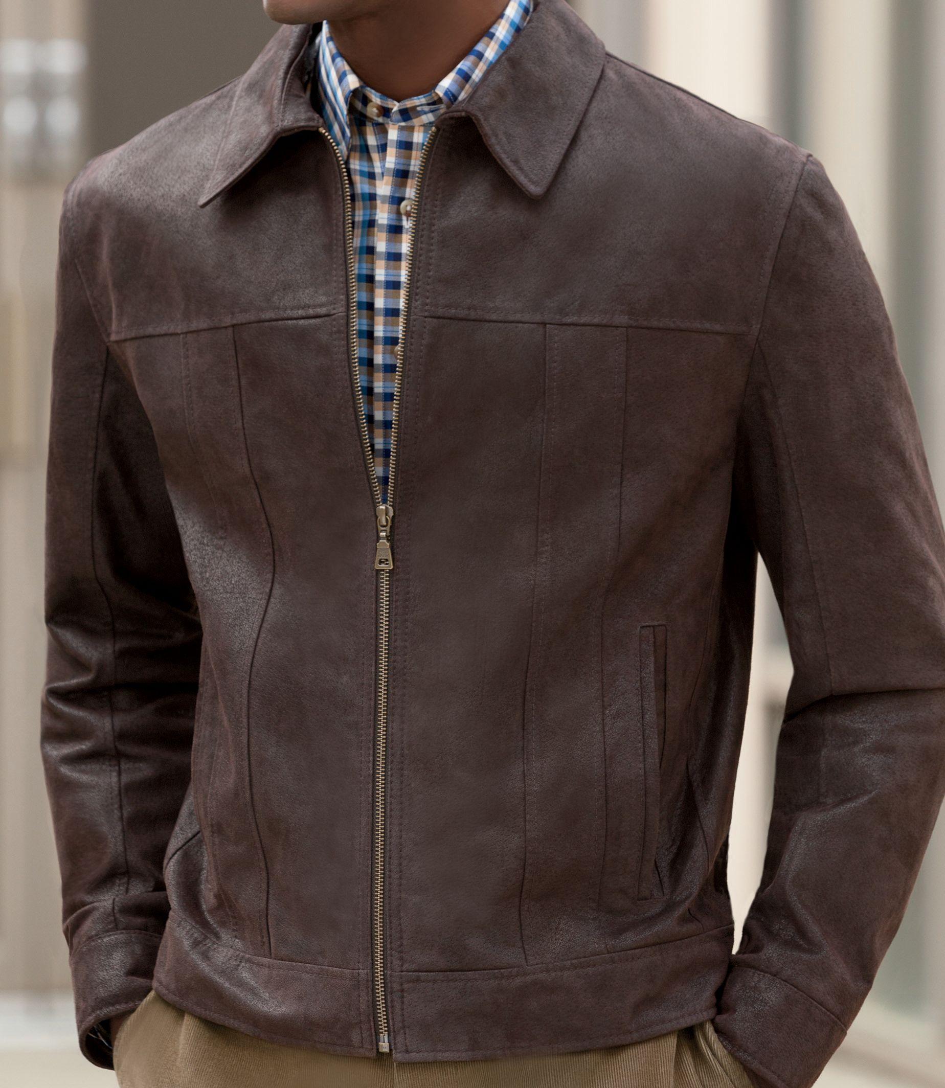 Executive Vintage Suede Jacket