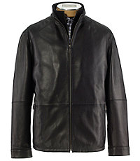 Signature Trapper Bib Leather Jacket