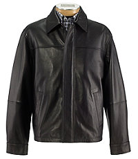 Signature Open Bottom Leather Jacket