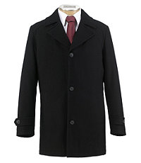 Jos. A. Bank Executive Collection Traditional Fit Car Coat (Black)
