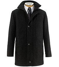 Heathered Wool Coat