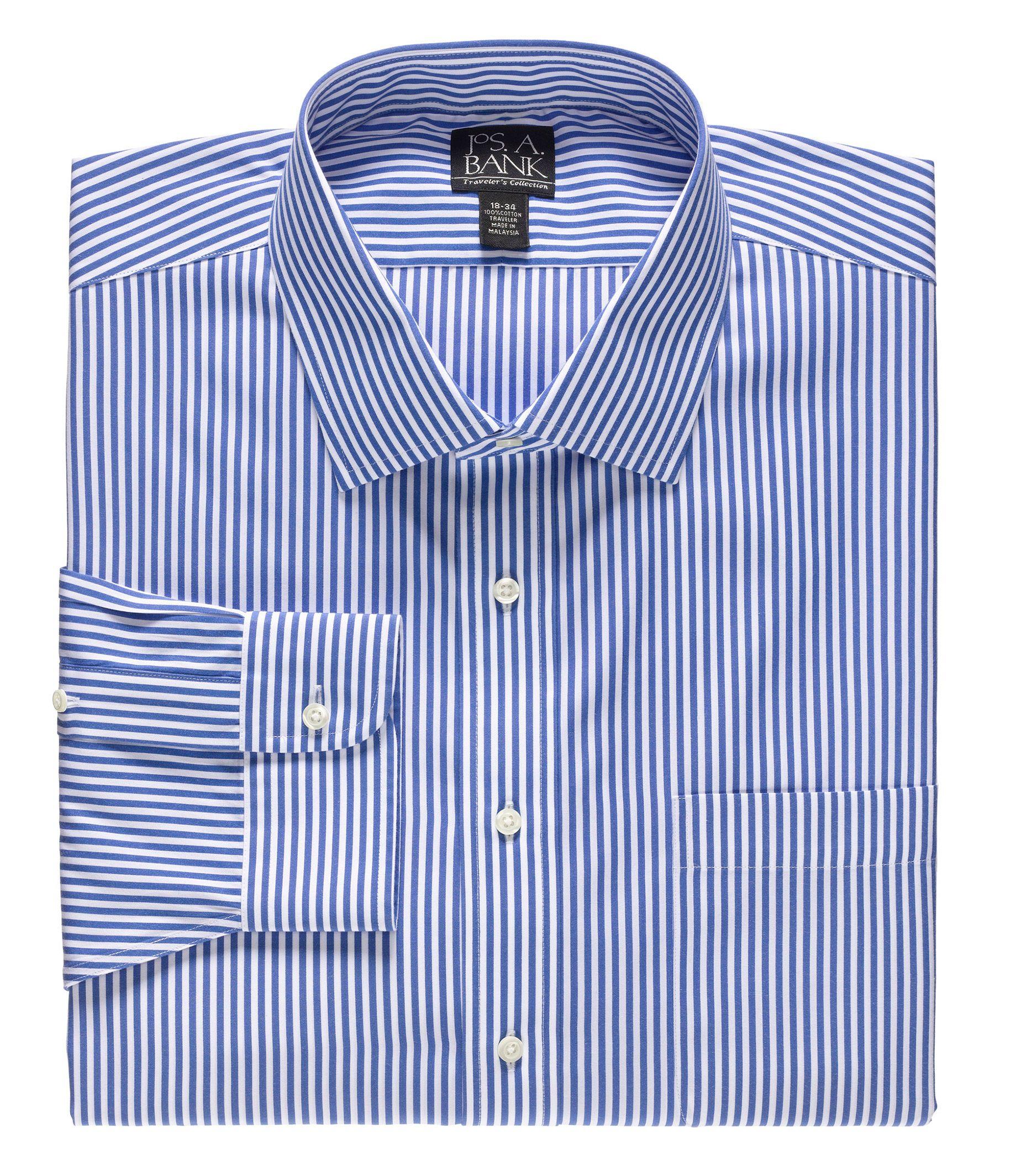 Traveler Spread Collar Dress Shirt Big or Tall.