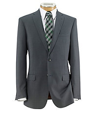 Joseph Slim Fit 2 Button Plain Front Wool Suit- Light Grey Self Micro