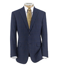 Signature 2-Button Tailored Fit Wool Patterned Sportcoat