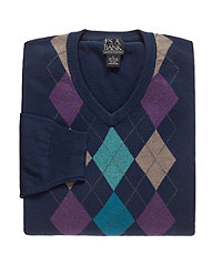 Cotton Sweater Argle Vest